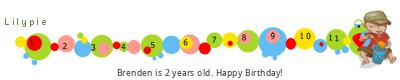 Lilypie Second Birthday tickers