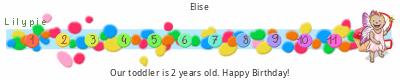 tickers Lilypie Deuxième anniversaire