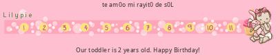 tickers de Lilypie Segundo cumpleaños