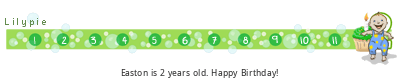 Lilypie Second Birthday (bzjs)