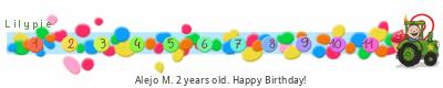 tickers Lilypie Segundo cumpleaños