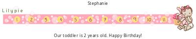 Lilypie tickers Segundo cumpleaños